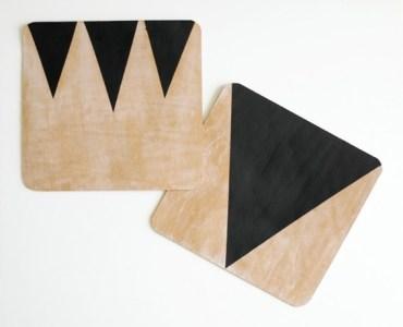 bőr, háromszögekkel díszítve