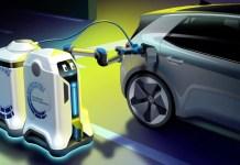 Volkswagen's New Mobile Charging Robot