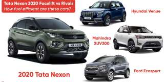Tata Nexon 2020 Facelift vs Rivals: How fuel efficient are these cars