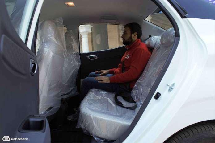 Hyundai Aura Rear Leg Space
