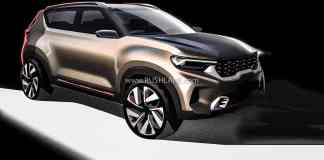 Kia Sonet Compact SUV Official Sketches Unveiled | Credits- RUSHLANE