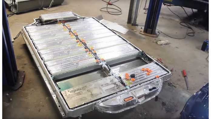 A Tesla battery pack