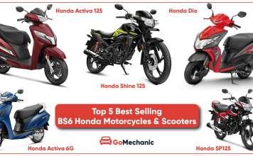 Top 5 Best Selling BS6 Honda Motorcycles & Scooters