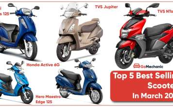 top 5 selling scooters in march 2020