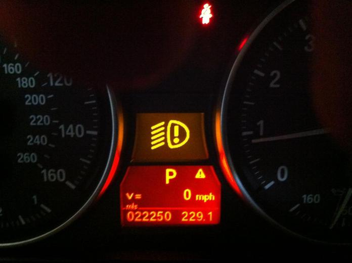 Fog Lamp Dashboard Warning Light/Indicator
