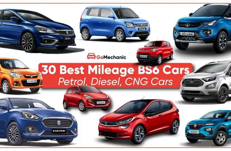30 Best Mileage Cars Petrol, Diesel, CNG BS6 Cars