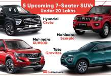 5 upcoming 7 seater SUVs under 20 lakh