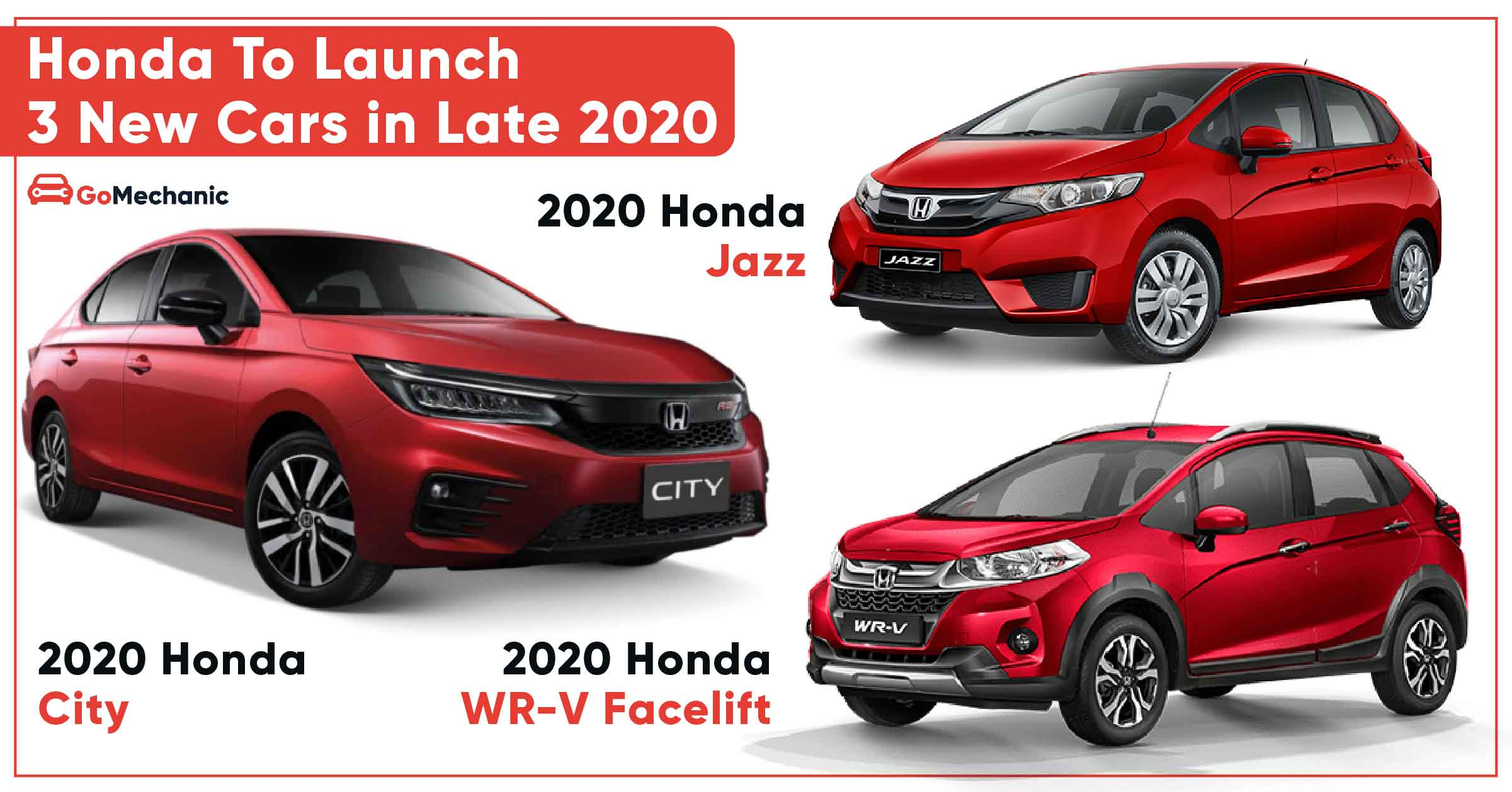 Honda To Launch 3 New Cars In Late 2020