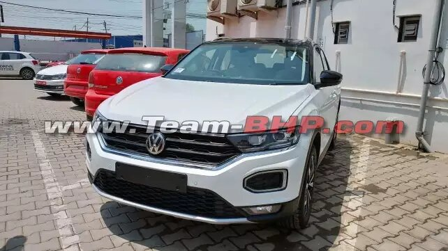 Volkswagen T-Roc compact SUV Spotted at dealerships | Credits- TeamBHP