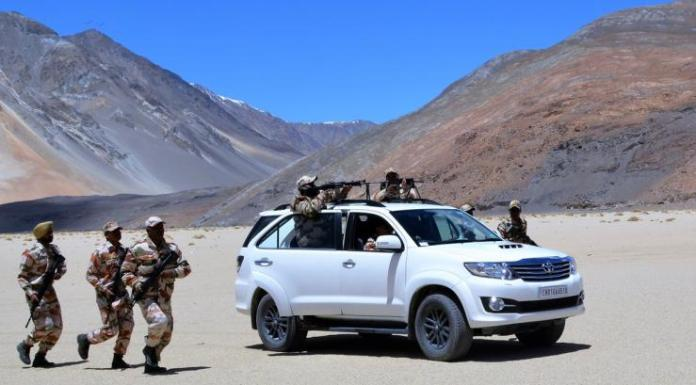 Indian Army Vehicles   Toyota Fortuner