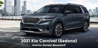 2021 kia carnival interior details revealed