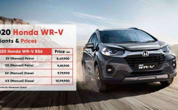 Honda WRV Price & Specification