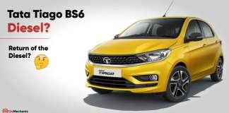 Tata Tiago BS6 Diesel spied testing