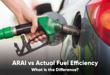 arai fuel efficiency vs actual fuel efficiency
