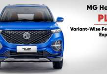mg hector plus variants-wise features explained
