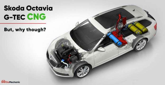 skoda Octavia gtec cng car