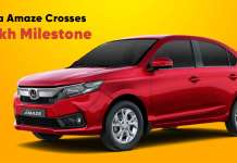 Honda Amaze crosses 4 lakh milestone in India