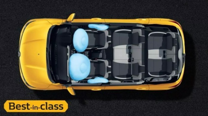 Renault Triber comes with 4 Airbags