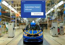 Tata Motors Rolls out 3,00,000th Tata Tiago from it's Sanand Plant