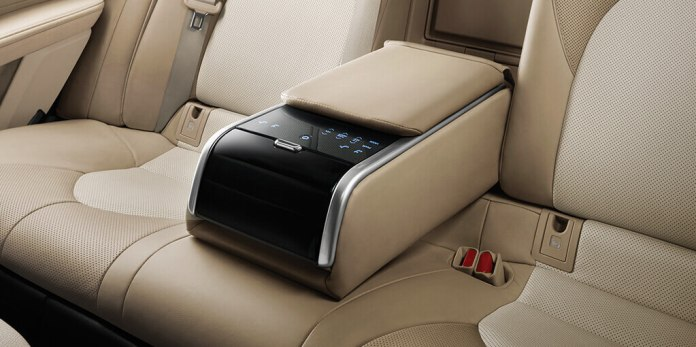 Rear seat touch control