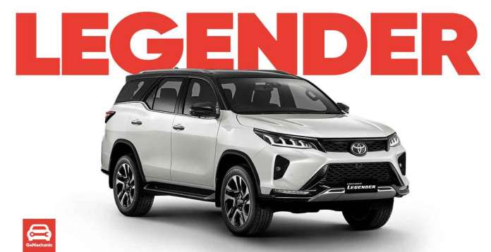 2021 Toyota Fortuner Legender Launching Soon