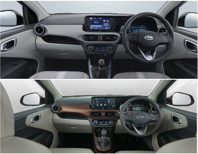 Hyundai Aura vs Nios interior