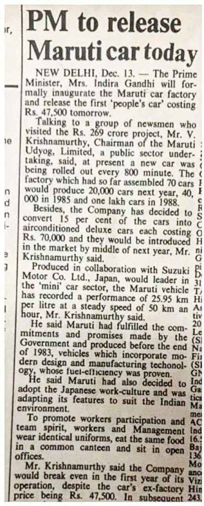 The Day India was introduced to the Maruti 800