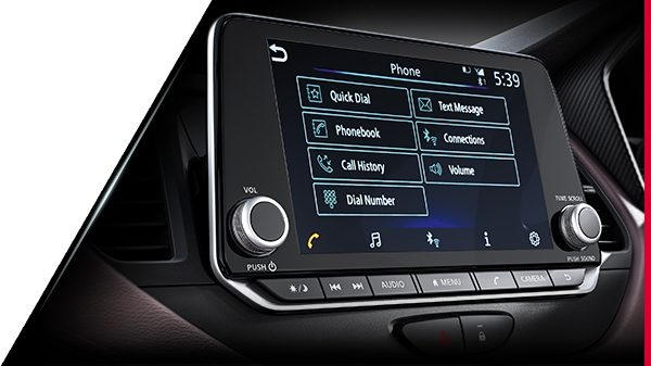 Infotainment System at Nissan Kicks