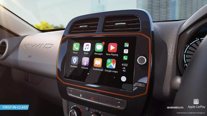 Renault Kwid's 8.0-inch Infotainment System