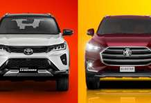 Toyota Fortuner Legender vs MG Gloster
