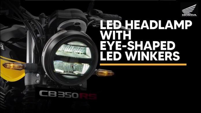 Honda CB350 RS LED headlights