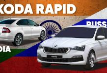 Skoda Rapid India vs Russia Comparison