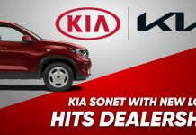 Kia Sonet with New Logo