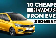 10 Cheapest New Cars From Every Segment