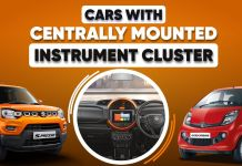 Cars with central instrument cluster