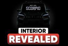 Mahindra scorpio Interior Revealed ft