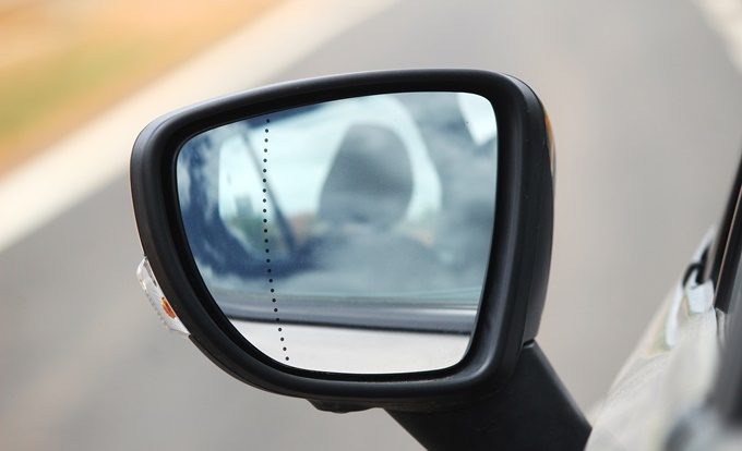Integrated Blind Spot Mirror