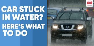 What to do when car is stuck in water