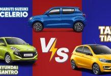 Hyundai Santro vs Tata Tiago vs Maruti Suzuki Celerio