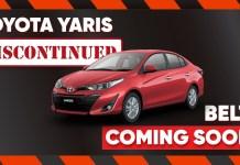 Toyota Yaris Discontinued