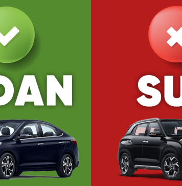 Next Car Should Be A Sedan And Not An SUV