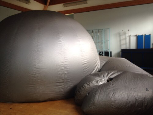 The inflatable dome in our hall.