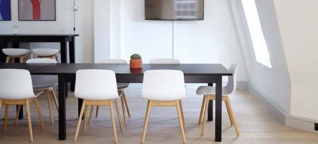 A modern conference room to be relocated with commercial moving services Fremont CA.