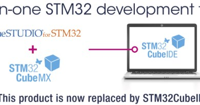 "ST Microelectronics ""resmi"" geliştirme ortamı: STM32 CUBE IDE"