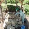 石窯の床づくり