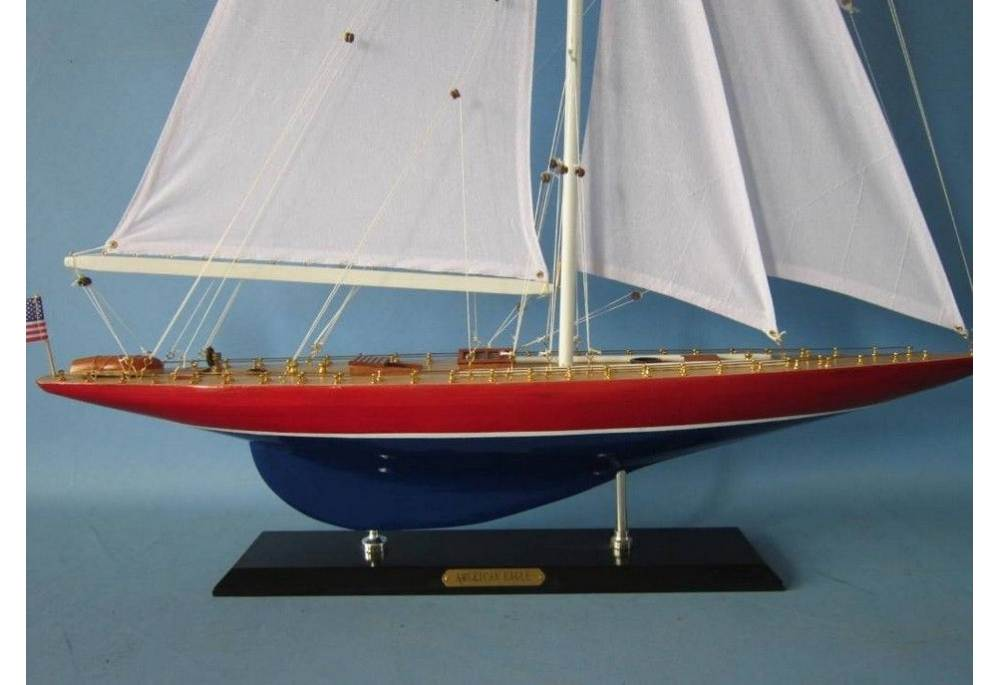 Americas Cup American Eagle Wooden Yacht Model