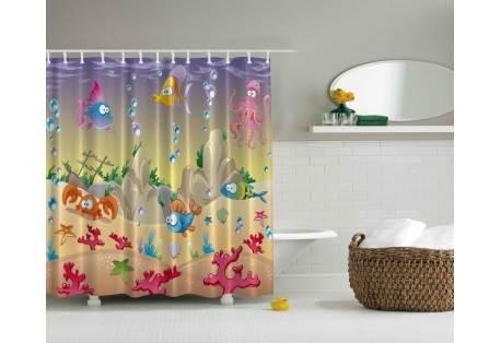 kids shower curtain under the sea