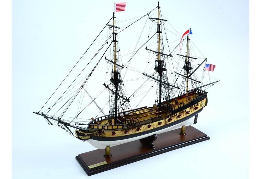 Uss Rattlesnake Tall Ship Model