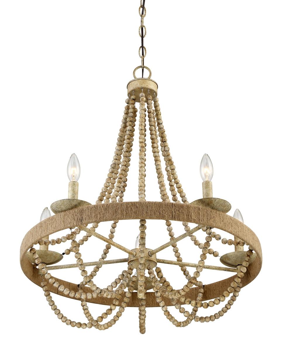 rope coastal chandelier ceiling light