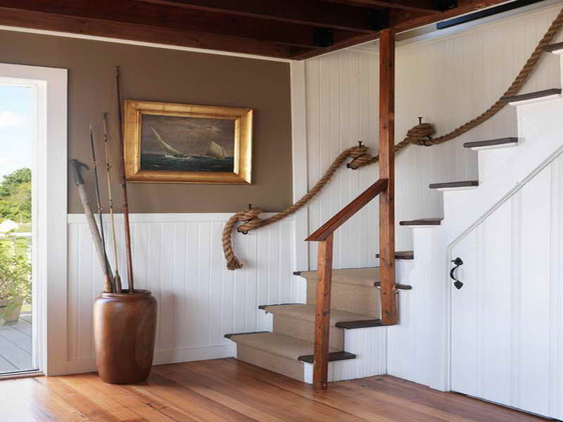 Nautical Home Decorating With Ship Wheel, Liferings